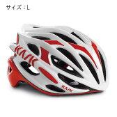 KASK(カスク) MOJITO ホワイト/レッド サイズL ヘルメット 【自転車】