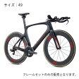 FUJI(フジ) 2017モデル NORCOM STRAIGHT 1.1 マットカーボン/レッド サイズ49 フレームセット 【自転車】