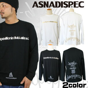 Tシャツ ロンティー アスナディスペック ASNADISPEC ブラック