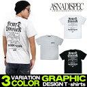 Tシャツ メンズ 半袖 ティーシャツ TEE アスナディスペック アスナ ASNADISPEC XL XXL 2XL 3L 黒 ブラック 白 ホワイト プリント 大きいサイズ B系 ブランド 人気 アメカジ ストリート系 ファッション おしゃれ かっこいい /3045/ as-rem-5101