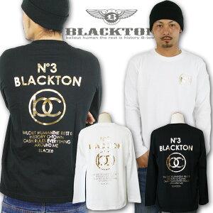Tシャツ ロンティー ブラクトン ブラック ホワイト プリント