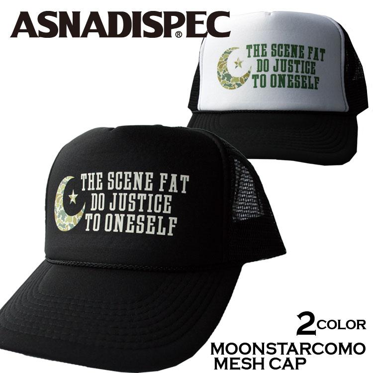 【ASNADISPEC/アスナディスペック】プリントメッシュキャップ/as-cap-18 ストリート系 ファッション