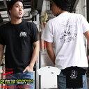 Tシャツ メンズ 半袖 ティーシャツ コンフューズ XL XXL 2XL 3L 黒 ブラック 白 ホワイト プレイハンド プリント 大きいサイズ ワーク ルード系 ブランド 人気 アメカジ ストリート系 ファッション おしゃれ かっこいい /3045/ con-rem-2845