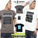 Tシャツ メンズ 半袖 ティーシャツ TEE リアルコンテンツ XL XXL 2XL 3L 黒 ブラック 白 ホワイト プリント 大きいサイズ ブランド 人気 アメカジ ストリート系 ファッション おしゃれ かっこいい /3045/ rcst1248