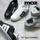MOZ モズ 「m」ロゴ ナイロン レースアップ スニーカー...