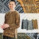 カットソー Tシャツ シャツ トップス 長袖 ロングスリーブ メンズ レディース 総柄 プリント ユニセックス S/M/L/LL | n_marai