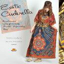 エキゾチックシンデレラ キモノスリーブマキシ ワンピース エスニック アジアン ファッション ボヘミアン オリエンタル アジアンテイ