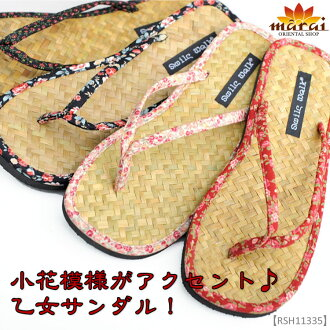 A trial sandals floret design is accent ♪ young girl sandals !M@N0300 fs3gm