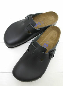 birkenstock boston leather black
