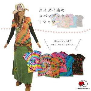 タイダイ スパンデックス Tシャツ エスニック ファッション アジアン オリジナル デザイン ボヘミアン
