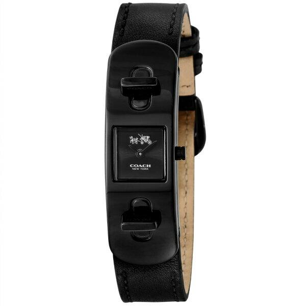 コーチ COACH 時計 レディース 腕時計 SWAGGER 50mm ブラック カーフレザー 14502225 送料無料 取り寄せ◆コーチ 腕時計 COACH