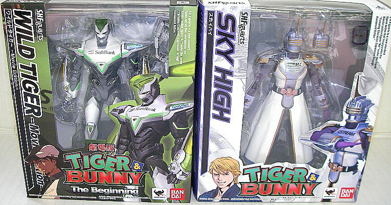 S.H. Figuarts TIGER & BUNNY Wilde tiger - movie edition - & sky high tiger & bunny