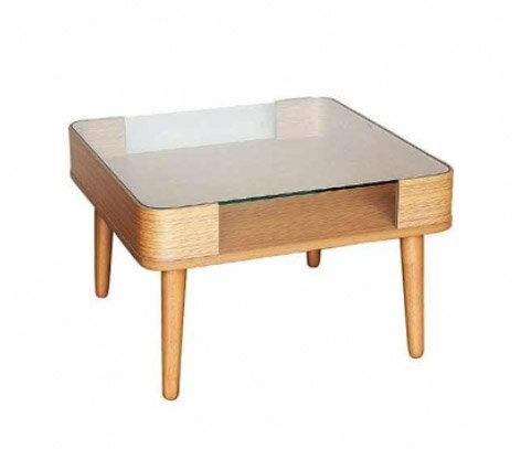 丸みのある脚がレトロで可愛いセンターテーブル ディスプレイ出来る ガラステーブル ナチュラル 北欧 ★スマートスクエアーテーブル 【02P03Dec16】 テーブル リビングテーブル ローテーブル センターテーブル ガラス   可愛い お洒落 おしゃれ 北欧 家具  間仕切り