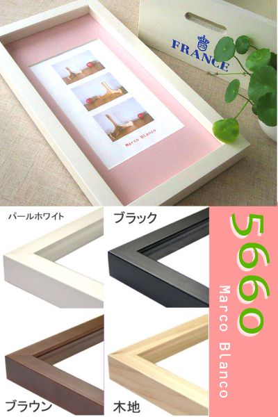 深さのあるBOX型フレーム。。 【5660】 長方形  70×35cm 4色あります。ガラス入り