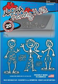 ���ƥå���������ϥե��ߥ꡼���ե��ߥ꡼���ƥå�����Aloha Family Decal Kit���������������꡼������ꥫ�󡡥ϥ磻���󡡥����ե��󡡥ե����եܡ��ɡ����ƥ��å��ԡ��ץ�