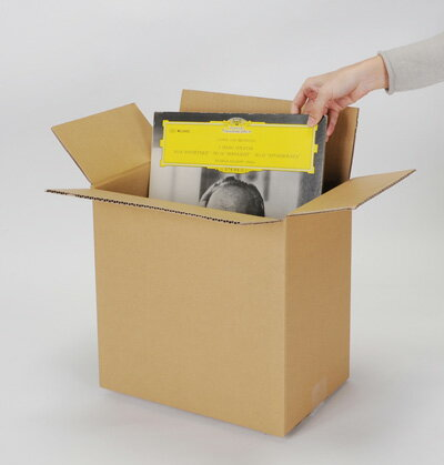 LPレコード段ボール箱 50枚用 縦置き 10箱セット(LP用 12インチレコード ダンボール箱 段ボールBOX ダンボールBOX 段ボールボックス ダンボールボックス レコード収納ボックス レコード収納BOX 収納箱 保管箱 保存箱) /マルゲリータ