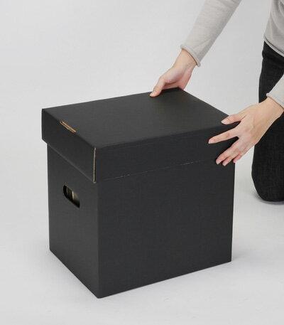 LP用蓋付きBOXセット 黒 5箱セット(LP...の紹介画像3