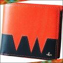 ヴィヴィアンウエストウッド ヴィヴィアンウエストウッド正規品 Vivienne Westwood ヴィヴィアン ウエストウッド VWステッチ 二つ折り財布 ピンク×ネイビー