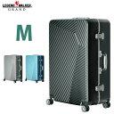 【W1-5602-60】キャリーバッグ スーツケース キャリーケース 5日 6日 7日 Mサイズ 超軽量 中型 TSAロック アルミ調デザイン 8輪 細フレーム