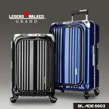 【ポイント10倍 12月16日15:59まで】スーツケース ビジネスキャリー ビジネスバッグ 機内持ち込み 可 キャリーケース ノートパソコン SS サイズ 2日 3日 超軽量 LEGEND WALKER GRAND レジェンドウォーカーグラン 『W-6603-50』