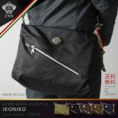【ポイント10倍 12月16日15:59まで】オロビアンコ OROBIANCO ショルダーバッグ バッグ ビジネス カジュアル 1気室 メンズ レディース レザー ナイロン 「IKONIKO」『orobianco-90604』