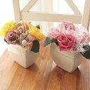満開に開いたバラはバラ園のよう母の日に★遅れてごめん!【送料無料】rose・garden・プリザーブドフラワー