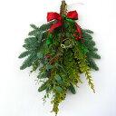 『オレゴンモミのクリスマススワッグベル・生』40cm┃予約 クリスマスリース クリスマススワッグ もみ モミ クリスマスプレゼント クリスマスリース おしゃれ お歳暮 フレッシュ swag ウッド