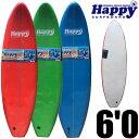 """ソフトサーフボード 子供用サーフボード◆ハッピーソフトボード6'0"""" HAPPY SOFT SURFBOARD"""