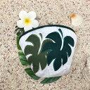 【ブラックフライデー最大P24倍11/25】 ハワイアンキルト Hawaiian Quilt モンステラコインケース インテリア小物