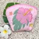 【ブラックフライデー最大P24倍11/25】 ハワイアンキルト Hawaiian Quilt ハイビスカスコインケース ピンク インテリア小物 財布 小銭入れ 小物入れ がま口