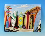 ブリキの看板 SURF SHACKサーフィングシャック/サインプレート看板 サインボード アルミニウムプレート アメリカ雑貨【RCP】