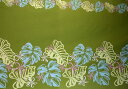Hawaiian cloth moss-green frangipani & monstera / hula hawaii Ann miscellaneous goods [RCP] 02P11Jun13