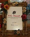 ☆ハワイアン雑貨☆KC HAWAII フォトフレーム プルメリア&ハイビスカス/ハワイアン雑貨 フラ 小物 インテリア