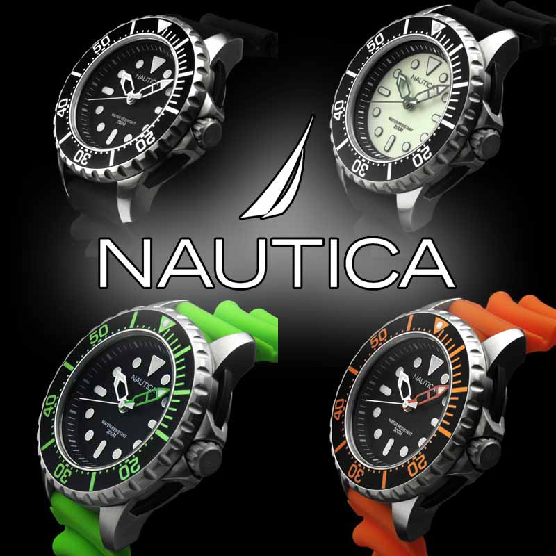 NAUTICA ノーティカ スポーツウォッチ 時計 NMX650【RCP】 ★衝撃吸収プロテクターと200mの防水性を誇るハイスペック