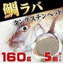 タイラバ タングステン ヘッド 鯛ラバ 160g 5個セット 鯛カブラ ルアー 遊動式 のっこみ タイカブラ 真鯛 青物 底物 底取り 重り 自作 ディープタイラバ ディープドテラ ドテラ流し ロックフィッシュ 根魚