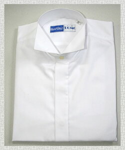 ウイングカラーシャツ シングル カフスボタン モーニング フォーマルシャツ タキシード