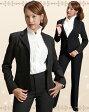 【送料無料】 パンツスーツ!【ブラックフォーマルにもOK】※リクルート スーツ! 激安レディース パンツスーツ!就職活動 フレッシュスーツ 制服にいかがですか?【smtb-KD】 TP24560