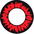 男子にも人気!!コンタクトフィルム ワイルドレッド ★新 ワイルド シリーズ★ 度なし 送料無料!コスプレ 仮装 変装!全6色 WILD RED ワイルド レッド 【RCP】SS10P02dec12