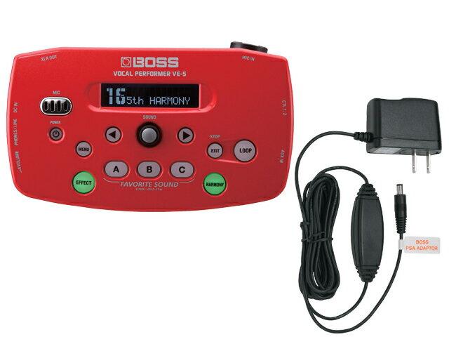 BOSS VE-5 レッド [VE-5-RD] + 純正ACアダプター「PSA-100S2」セット(新品)【送料無料】