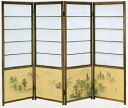 [shoji screen] [partition] the ancient times-colored shoji silk cloth coloring hills and rivers [national free shipping] [smtb-tk]