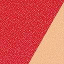ポリエステル一越織風呂敷両面染 尺三巾(約48×48cm)あられ小紋(赤)/無地(ベージュ)