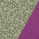ポリエステル一越織風呂敷両面柄 尺三巾(約48×48cm)小桜(利休)/ちりめん(紫)