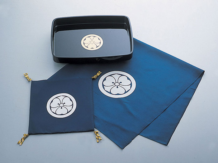 儀式 結納用品紋付お家用3点セット-定紋付-