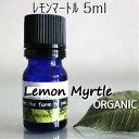 レモンマートル精油 5ml♪【メール便可】オーガニック♪♪100%ピュア エッセンシャルオイル♪レモンよりレモンの香り♪柑橘系♪抗菌作用♪リ