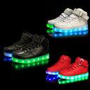 楽天Mars shop子供用 キッズ USB 充電式 LEDスニーカー 発光シューズ カジュアル スニーカー 男の子 女の子 ダンス 11種類7色発光