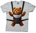映画【TED(テッド)】オフィシャルTシャツ テッドを抱っこ アイスグレー ホワイトデー 誕生日プレゼント