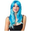 Glow Two-tone Long Wavy Wig アクセサリー 大人用 レディス 女性用 ハロウィン コスチューム コスプレ 衣装 変装 仮装