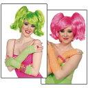 玩具, 興趣, 遊戲 - Ponies Set Short Wig アクセサリー 大人用 レディス 女性用 ハロウィン コスチューム コスプレ 衣装 変装 仮装