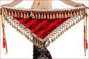 ベリーダンス 衣装 Tribal Tassels Triangle ヒップスカーフ wrap ベルト 2 カラー コスチューム ダンス 衣装 発表会