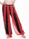 ベリーダンス 衣装 シフォン Tribal Bloomers パンツ with Gold Coins 4 カラー コスチューム ダンス 衣装 発表会